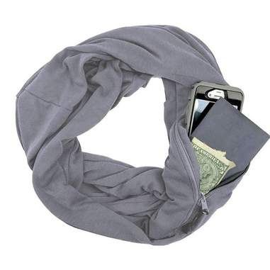 Écharpe avec poche