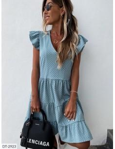 robe volant bleu